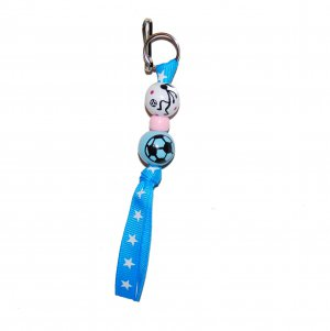 Handpainted Soccer Sports Zipper Pull
