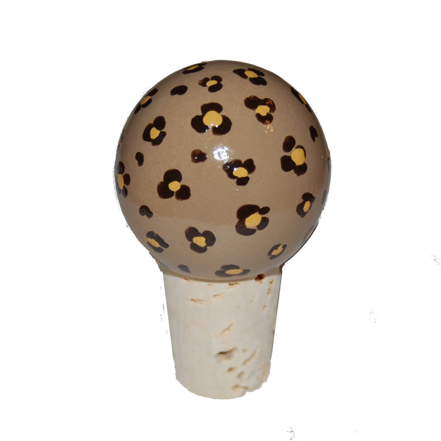 Handpainted Leopard Wine Stopper