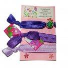 Handpainted Princess & the Frog Prints Foldover Elastic FOE Hair Tie Bracelets - Set of 3