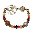 Mockingjay Clock Arena Games Bronze Stretch Bracelet