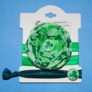 St. Patrick's Day Irish Handmade Flower Foe Elastic Headband & Matching Hair Tie