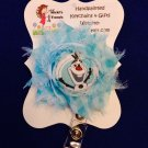 Olaf Inspired Retractable ID Badge Card Holder Pull Reel Belt Clip Blue Lanyard