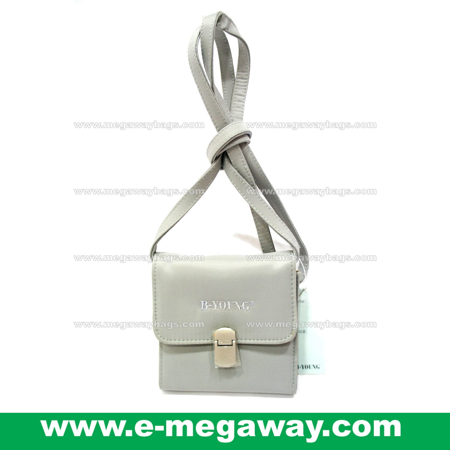 B.Young 2-in-1 Cross Shoulder Ladies Wallet Sling Purses Name Card Organizer MegawayBags #CC- 0875