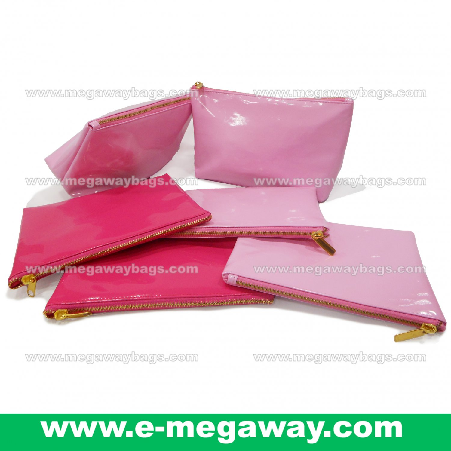 Pink Fans Travel Amenity Kits Make Up Zip Pouch Cosmetics Bags Bath MegawayBags #CC-0932C