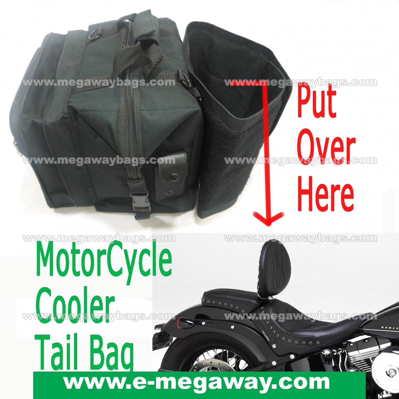 Cooler Motor Cycle Luggage Saddle Tail Trunk Bag Touring Racing Bike MegawayBags #CC-0038