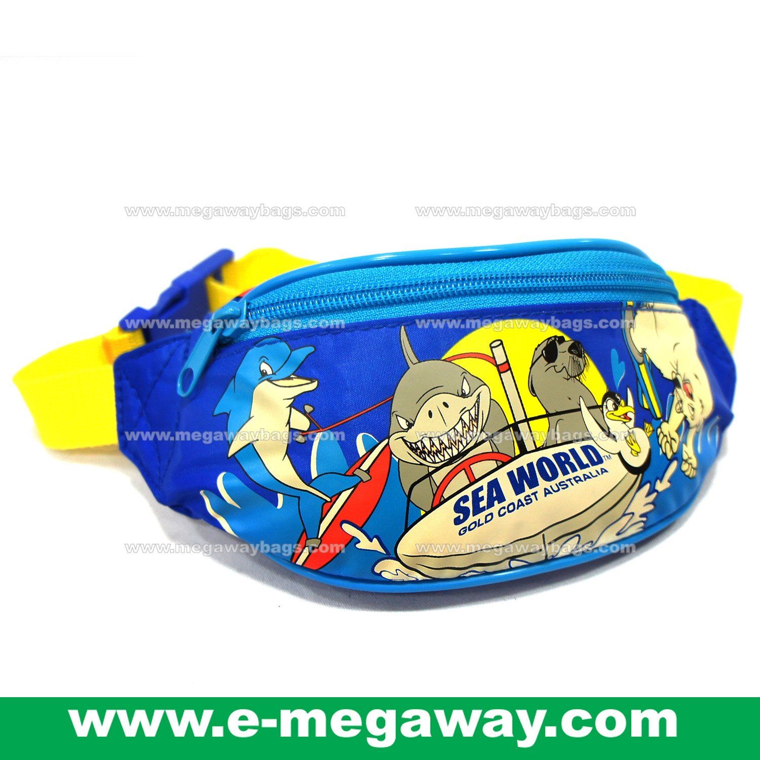 Original Sea World Movie World Warner Bros Waist Bag Fanny Pack Sling MegawayBags #CC-0629