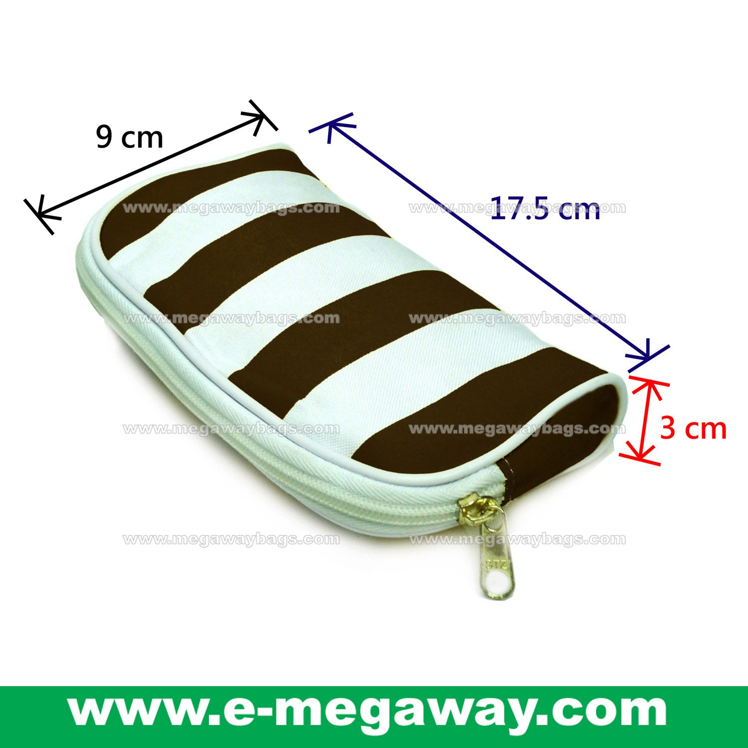Beauty Amenity Cosmetics Bags Case Sac Pouch Wallets Stripe Printed MegawayBags #CC-0839