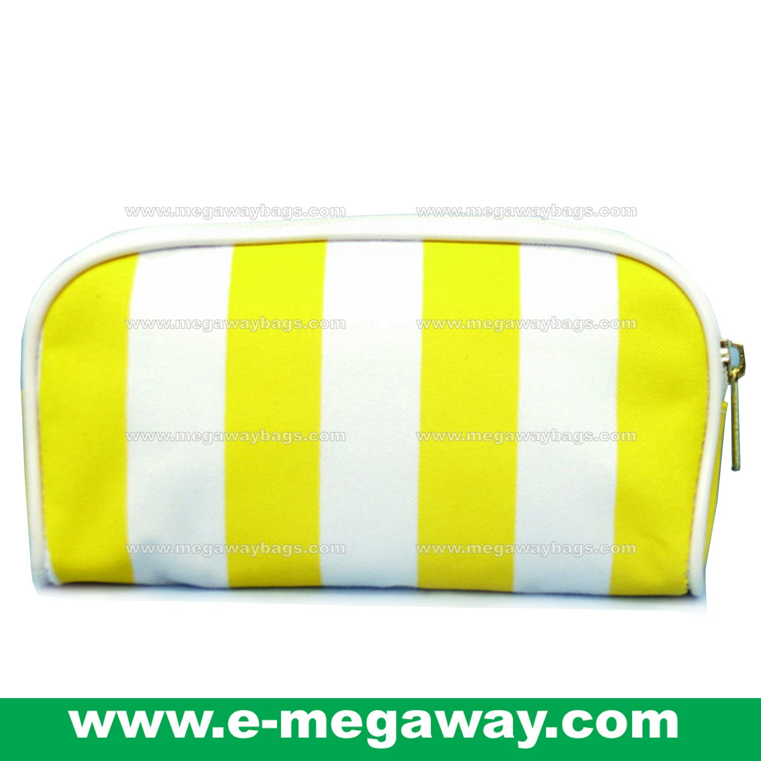 Beauty Amenity Cosmetics Bags Case Sac Pouch Wallets Stripe Printed MegawayBags #CC-0838