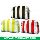 Beauty Amenity Cosmetics Bags Case Sac Pouch Wallets Stripe Printed MegawayBags #CC-0840