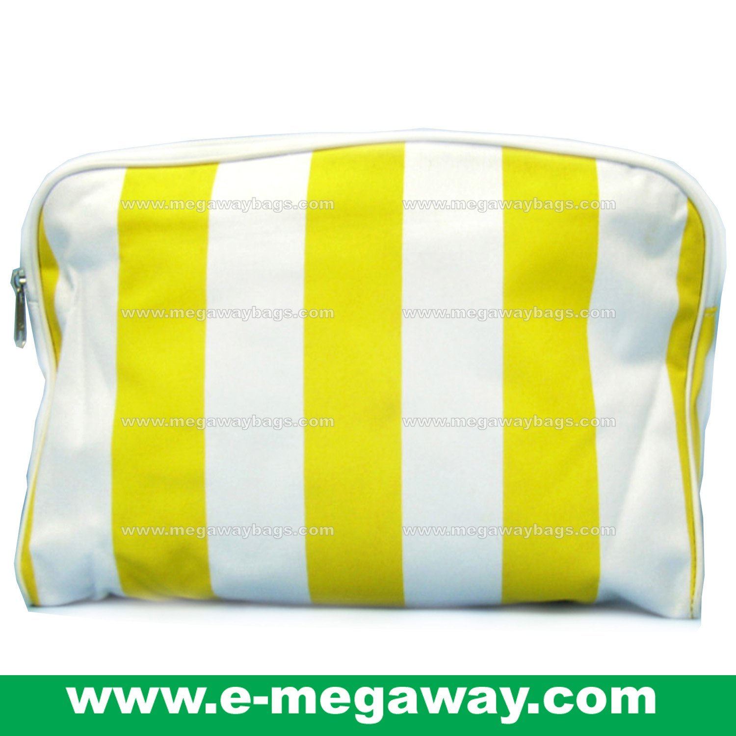 Beauty Amenity Cosmetics Bags Case Sac Pouch Wallets Stripe Printed MegawayBags #CC-0841