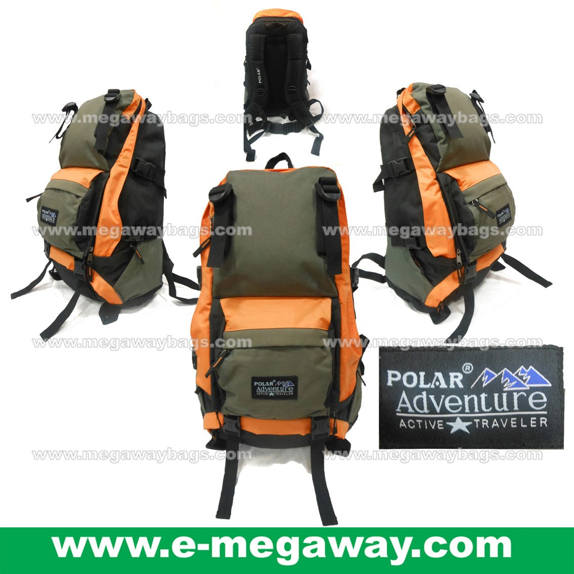 POLAR Adventure Camping Hiking Backpack Day Packs Picnic Travel Gym MegawayBags #CC-0978