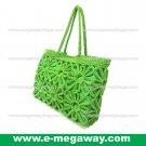 Straw Crocheted Bag Crafts Tote Women Fashion Handbag Satchel Purse MegawayBags #CC-1041