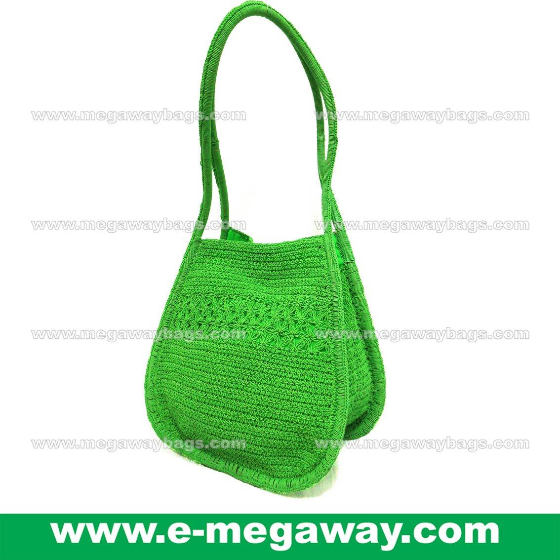 Shoulder Crochet Bags Straw Knitted Crafts Tote Handbags Taschen MegawayBags #CC-1042B