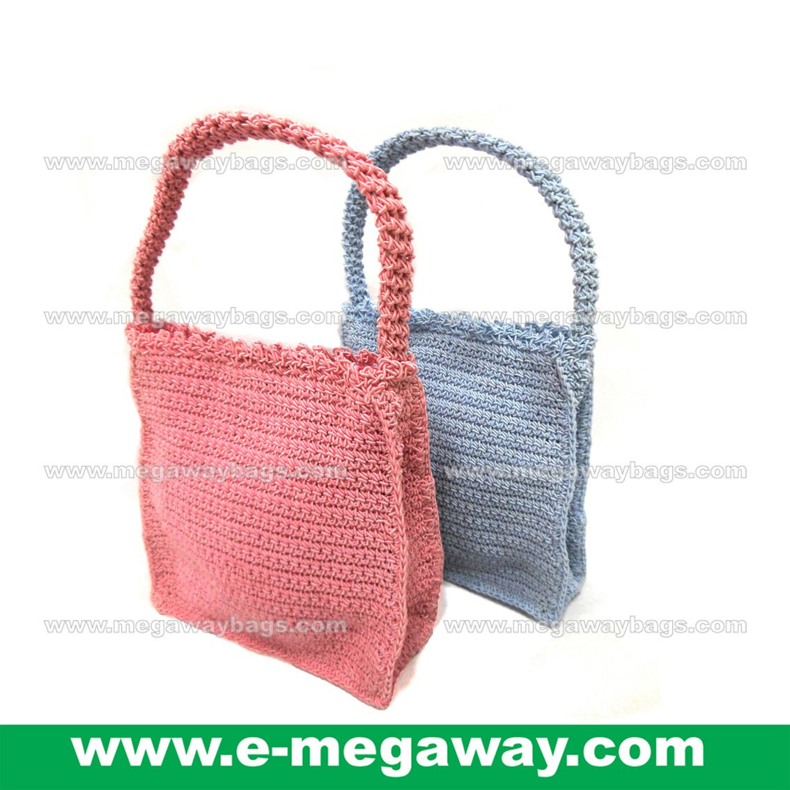 Mini Crochet Bags Straw Knitted Crafts Tote Handbags Taschen Purses MegawayBags #CC-1044A