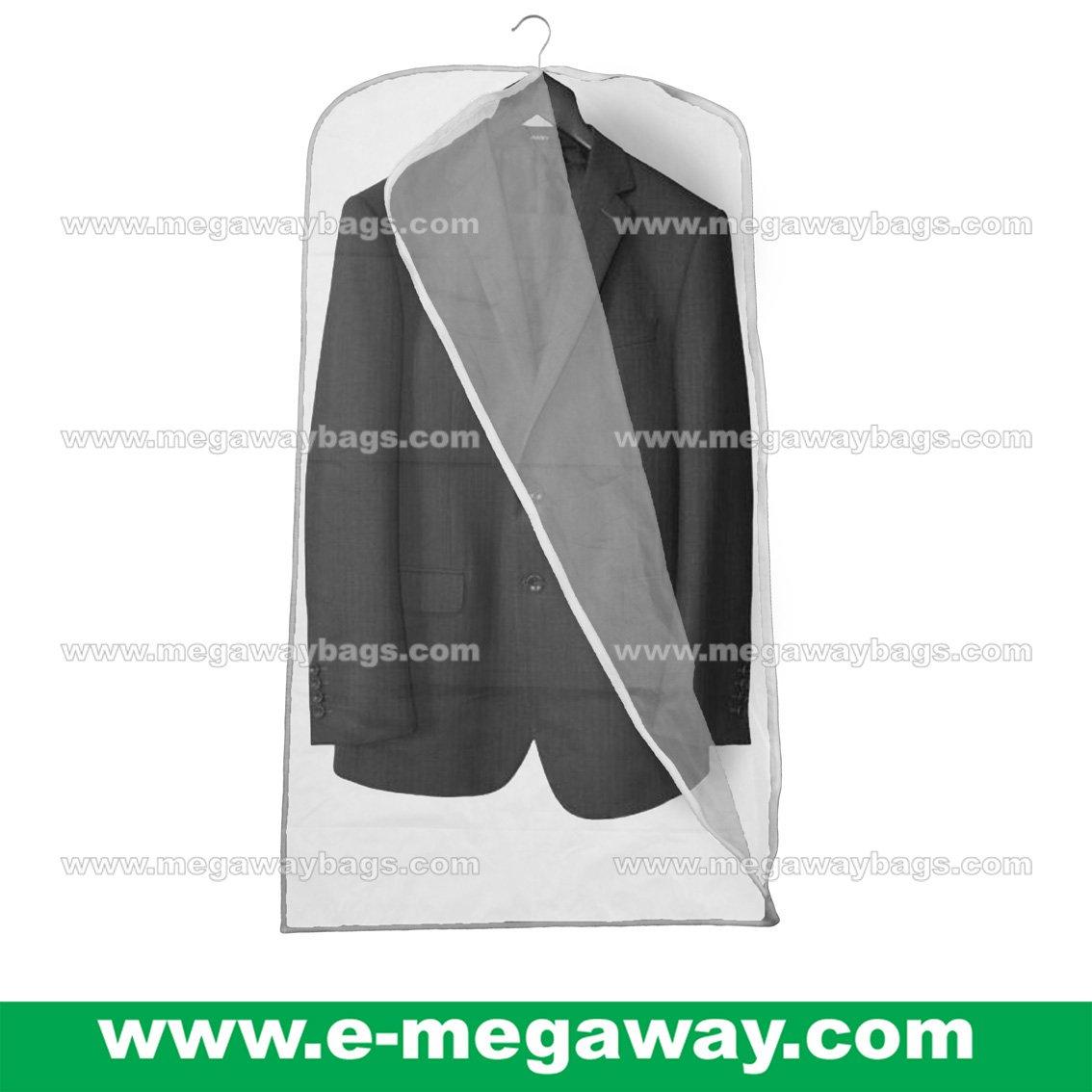 Wedding Suits Dress Garment Vinyl Zipper Bag Semi-Transparent Travel MegawayBags #CC-0944