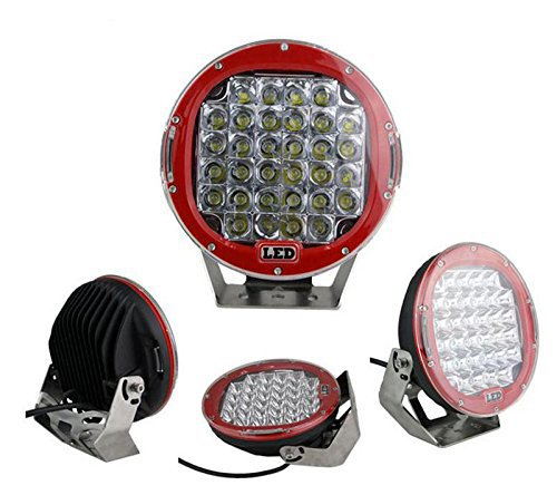 1pc 96W 9inch CREE LED RED Driving Spot Work Light 4WD Offroad