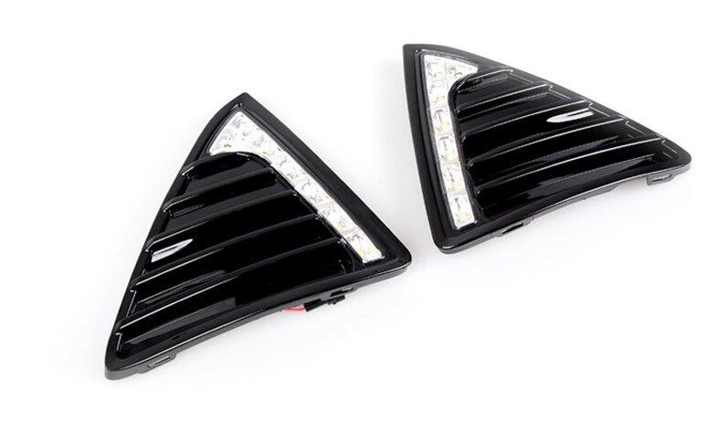 Gloss Style LED Car DRL 12v led car daytime running lights with turn light for 2012 Ford Focus 3