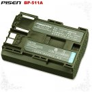 Canon DM-MVX1i FV300 FV50 MV430i BP-511A Pisen Camcorder Battery Free Shipping