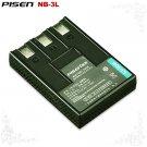 Pisen Canon PowerShot SD500 SD550 NB-3L Camera Battery Free Shipping
