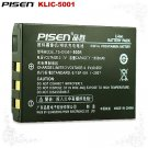 Pisen Kodak Easyshare P880 P712 DX6490 KLIC-5001 Camera Battery Free Shipping