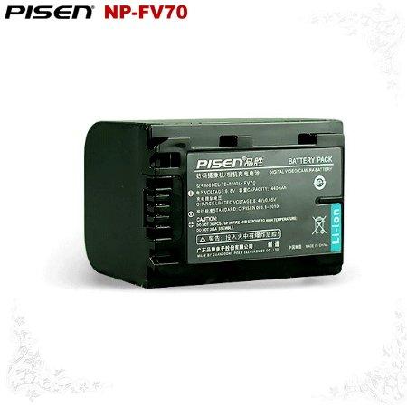 Sony HDRPJ200B HDR-PJ200B HDR-PJ30E NP-FV70 Pisen Camera Battery Free Shipping