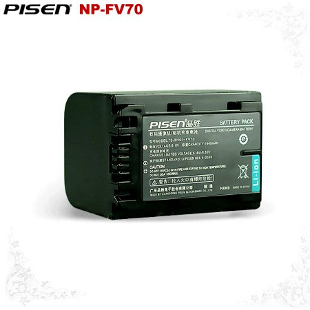 Sony HDR-SX65R HXR-NX71 HDR-TD10 NP-FV70 Pisen Camera Battery Free Shipping