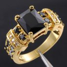 Royal desaign 10k gold filled black sapphire man ring size 10 ! Gift & Jewelry
