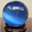 Asian blue quarts crystal healing ball sphere + stand ! Gift Jewelry & Love