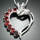 Swarovski Heart style crystal Zircon Pendant Necklace ! Gift Jewelry & Love
