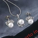 18k gold plated pearl earrings pendant necklace - set ! Gift Jewelry and Love