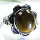 Pretty fashion silver 925 & Tiger eye ring size 8 1/2 ! Gift Jewelry and Love