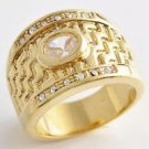 Fashion design real 9k gold filled cubic zircon ring size 7.75 ! Gift & Jewelry