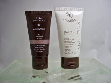 Vita Liberata set of 2 Luxury Self Tanning lotions travel size