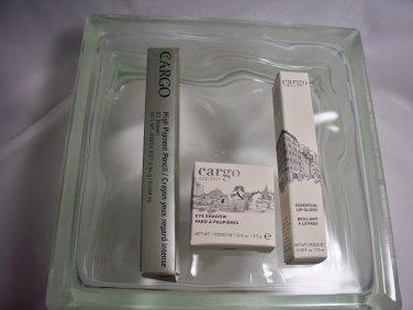 Cargo Cosmetics 4 pcs Lipgloss, 2 Eyeliners & Eyeshadow full sz Cruelty Free
