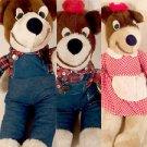 Vintage Plush THE THREE BEARS 3 Bears ELKA TOYS Sutton & Son NY