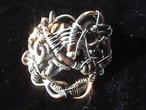 Diadem of Truth - Sterling Silver and Gold Ring