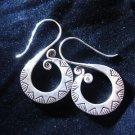 Fashion earrings Hill tribe Genuine silver thai karen tribal New S shaped ER181