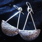 Fashion earrings Hill tribe Solid silver thai karen Womens wear long curve ER91