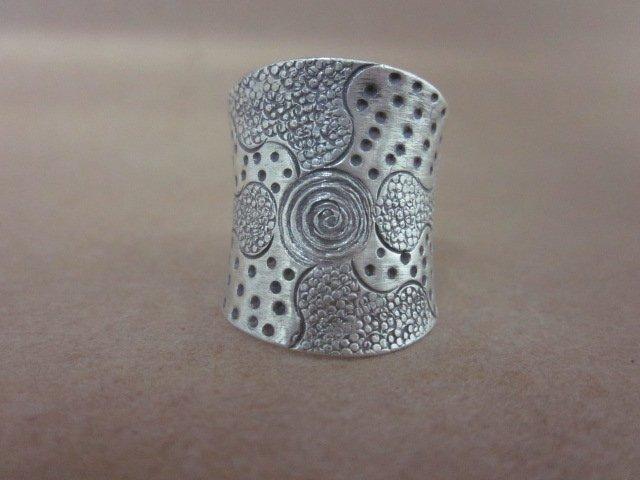 Fine Fashion silver Rings Hill tribe thai karen solid Vintage spirale Typhoon