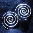 Fashion earrings Hill tribe Genuine silver thai karen tribal Spiral Womens ER77