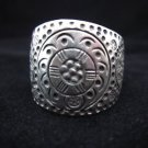Fine silver ring hill tribe thailand vintage style engrave high pure solid nice