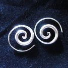 Fashion earrings Hill tribe Genuine silver thai karen tribal Cool Spiral ER92