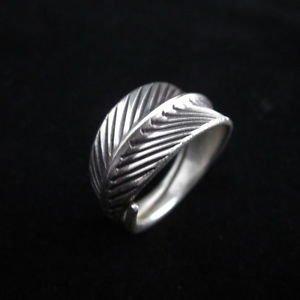 Fashion Silver Rings Hill tribe Leaf خ�ات� ا��ضة ا�ا��اد�ر Anelli d'argento R41