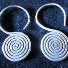 Fashion Solid silver earrings Hill tribe Spirale ohrringe Argento ORECCHINI ER04