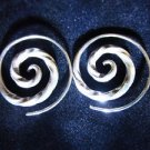 Fashion silver earrings Thai Hill tribe Spirale ohrringe Argento ORECCHINI ER39