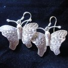 Fashion earrings Hill tribe Genuine silver thai karen tribal Butterfly ER141