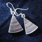 Fashion earrings Hill tribe Genuine silver thai karen tribal triangle cute
