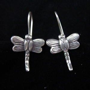 3X ER94 Karen silver Earrings Hill tribe lovely cute Dragonfly Mangpor Libellula