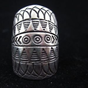 Fine Silver Rings THAI HANDMADE KAREN HILL TRIBE Kuchi Vintage OVAL Shaped R11