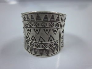 Hill tribe silver Rings thai karen handmade Kuchi Indian Triangle engraved R28